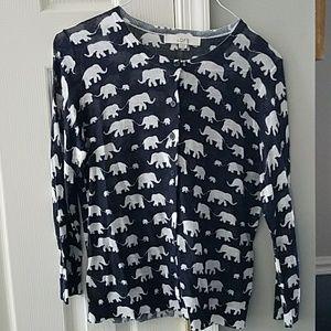 Loft elephant cardigan